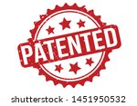 patented rubber stamp. patented ... | Shutterstock .eps vector #1451950532