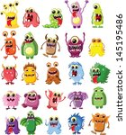 cartoon cute monsters | Shutterstock .eps vector #145195486