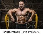 handsome strong athletic men...   Shutterstock . vector #1451987078