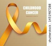 realistic golden ribbon. symbol ... | Shutterstock .eps vector #1451987288