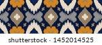 ikat geometric folklore... | Shutterstock .eps vector #1452014525