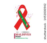 maldives happy independence day ...   Shutterstock .eps vector #1452030542