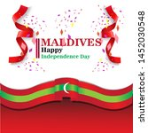 maldives happy independence day ...   Shutterstock .eps vector #1452030548