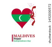 maldives happy independence day ...   Shutterstock .eps vector #1452030572
