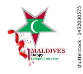 maldives happy independence day ...   Shutterstock .eps vector #1452030575