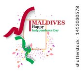 maldives happy independence day ...   Shutterstock .eps vector #1452030578