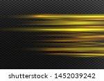 yellow horizontal lens flares... | Shutterstock .eps vector #1452039242