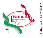 banner or poster of vanuatu...   Shutterstock .eps vector #1452042332