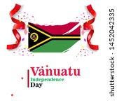 banner or poster of vanuatu...   Shutterstock .eps vector #1452042335