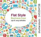 flat style talk icon   ... | Shutterstock .eps vector #145204738