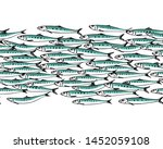 vector seamless pattern with... | Shutterstock .eps vector #1452059108