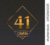german golden number forty one... | Shutterstock .eps vector #1452064235