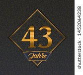 german golden number forty... | Shutterstock .eps vector #1452064238