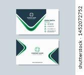 creative modern green business... | Shutterstock .eps vector #1452072752