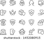 set of insurance icons  such as ... | Shutterstock .eps vector #1452080915