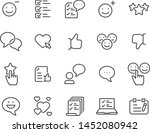 set of communication icons ... | Shutterstock .eps vector #1452080942
