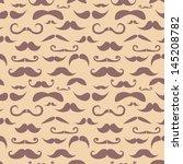 retro hipster moustache... | Shutterstock .eps vector #145208782