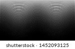 halftone wave white pattern.... | Shutterstock . vector #1452093125