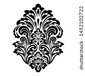 vector damask element. isolated ... | Shutterstock .eps vector #1452102722