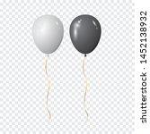 black and white balloons....   Shutterstock .eps vector #1452138932