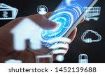 future mobile phone technology... | Shutterstock . vector #1452139688
