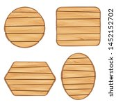 wood sign boards set with... | Shutterstock .eps vector #1452152702