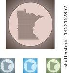 vector map of the minnesota | Shutterstock .eps vector #1452152852