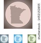 vector map of the minnesota | Shutterstock .eps vector #1452152855