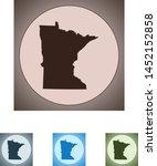 vector map of the minnesota | Shutterstock .eps vector #1452152858