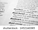 Small photo of Word or phrase Dust bowl in a dictionary