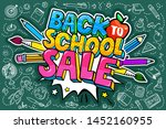 concept of education. sale... | Shutterstock .eps vector #1452160955