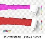 set of vector rip edge banner... | Shutterstock .eps vector #1452171905