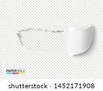 empty realistic torn paper... | Shutterstock .eps vector #1452171908