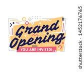 grand opening banner template...   Shutterstock .eps vector #1452176765