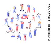 people background. crowd of... | Shutterstock .eps vector #1452187718