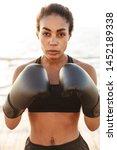 portrait of fitness pretty...   Shutterstock . vector #1452189338