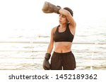 image of strong pretty woman...   Shutterstock . vector #1452189362
