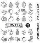 collection of fruit vector...   Shutterstock .eps vector #1452191135