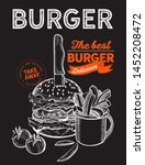 burger illustration for... | Shutterstock .eps vector #1452208472