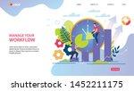 bright flyer inscription manage ...   Shutterstock .eps vector #1452211175