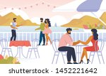 loving couples relaxing...   Shutterstock .eps vector #1452221642