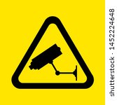a cctv in operation warning sign | Shutterstock .eps vector #1452224648