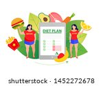before and after diet and... | Shutterstock .eps vector #1452272678