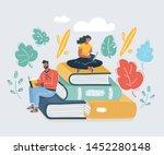 cartoon vector illustration of... | Shutterstock .eps vector #1452280148