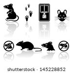 set of black mouse icons...