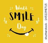 world smile day. international... | Shutterstock .eps vector #1452298715