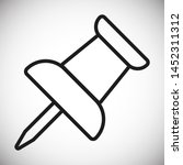 vector push pin icon  pushpin... | Shutterstock .eps vector #1452311312