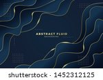 abstract fluid background... | Shutterstock .eps vector #1452312125