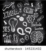 Set Of Thinking Doodles Elements