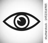 eye vector icon. open eye icon  ... | Shutterstock .eps vector #1452316985